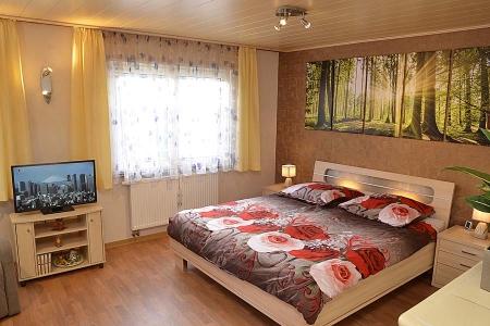Schlaf- und Wohnzimmer, Gästehaus Hanß